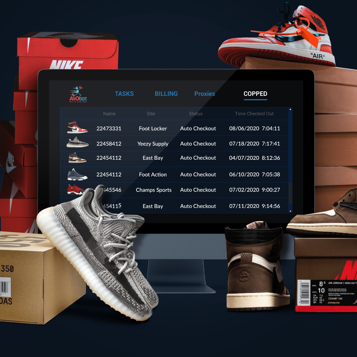 va a decidir Transparentemente arco  AIO Bot - Cop Limited Sneakers using All In One Bot