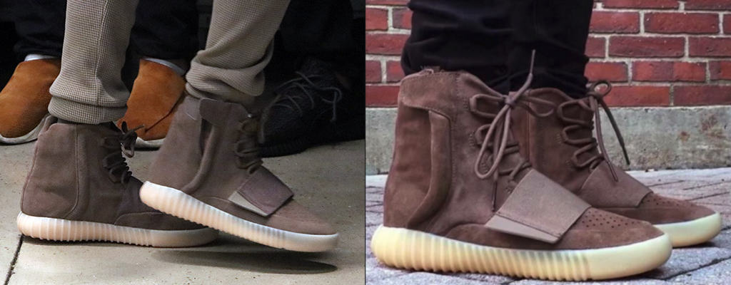 edada8018 Yeezy Boost 750 Light Brown vs Triple Black