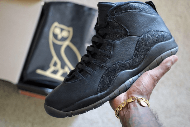Black Ovo X Air Jordan Sneaker