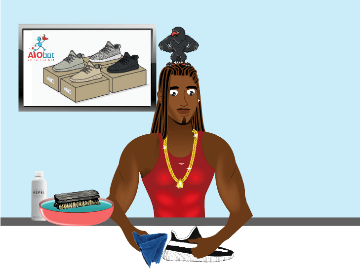 CLEANING YEEZYS