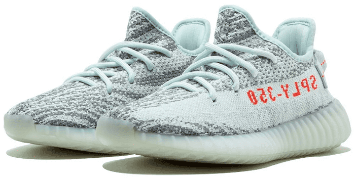 Yeezy Boost 350 v2 blue tint pair