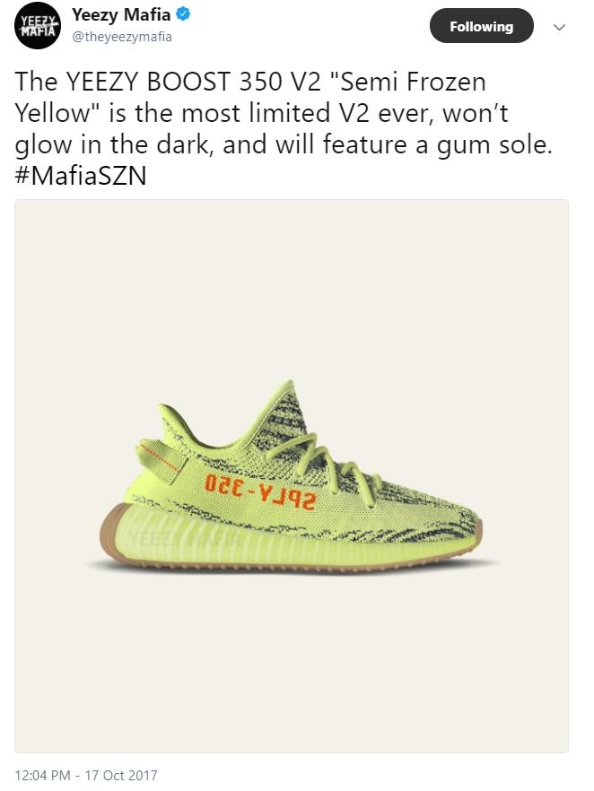 Yeezy Boost Frozen Yellow Release Date