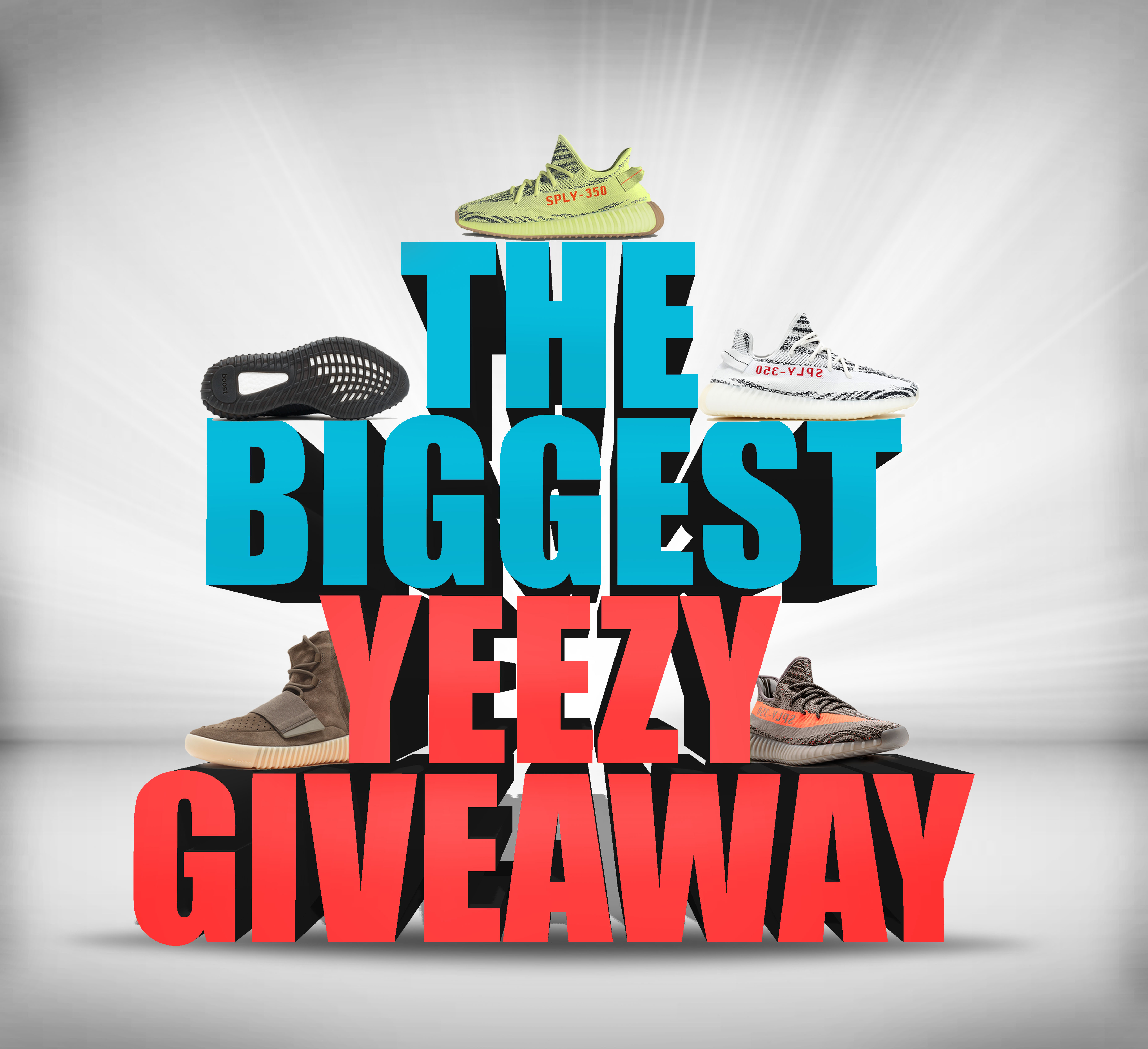 1ecf8ff5 Enter to Win FREE YEEZYS in the Most Massive Giveaway of 2017