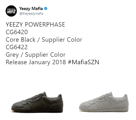 19a8999d1c4 Yeezy Powerphase Calabasas  Confirmed Release Information
