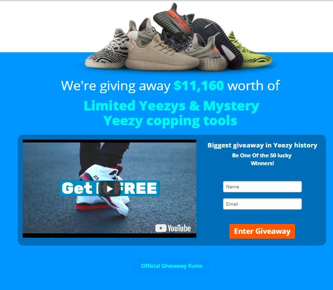 Free Yeezys Giveaway