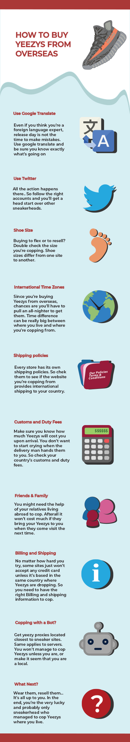 Buy Yeezys from overseas Info graphic