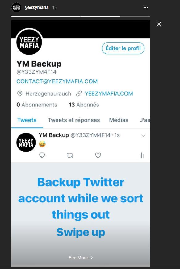 Yeezy mafia backup twitter