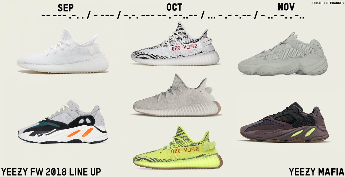 47169d788 Loaded Season Ahead  Adidas Yeezy Fall 2018 Lineup