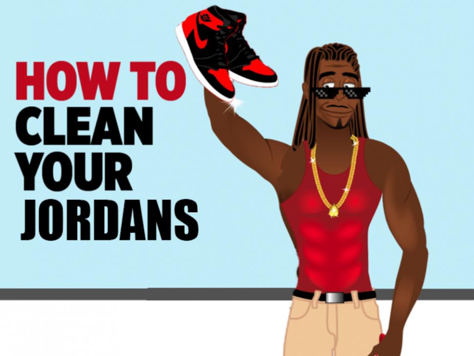 How to clean Jordans