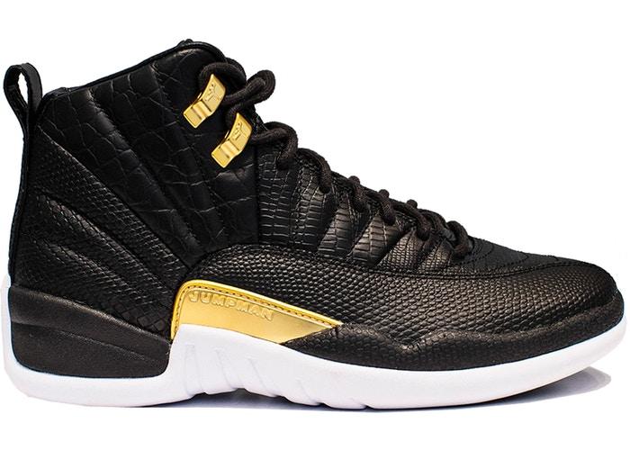 Air-Jordan-12-Retro-Black-Metallic-Gold-White