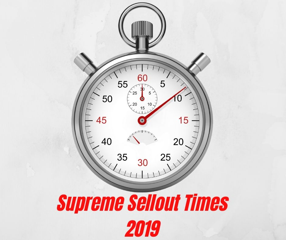 Supreme SS19 Sellout Times 2019