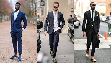 Athletic Sneakers with Suits