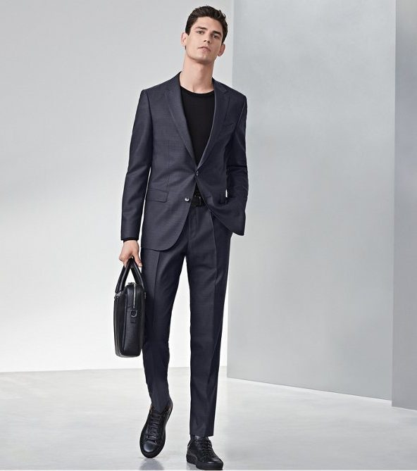 Hugo Boss Black Sneakers with Suit