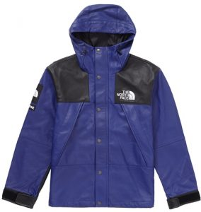 Supreme The North Face Leather Mountain Parka Royal FW18