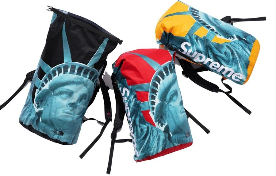 Supreme x The North Face Statue of Liberty Waterproof Backpack