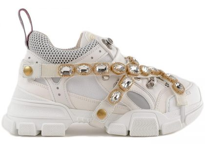 Gucci Flashtrek SEGA Ivory Removable Crystal - Luxury Sneakers
