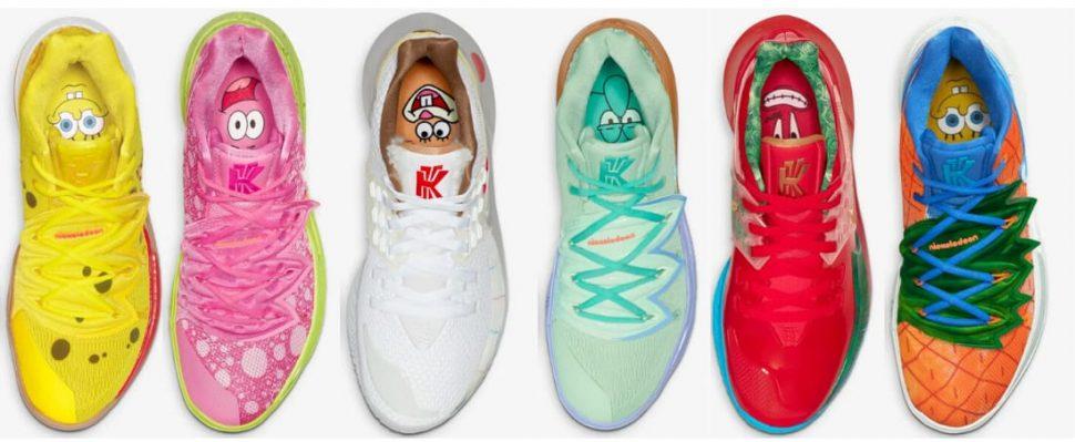 Kyrie Sneakers - Spongebob Pack
