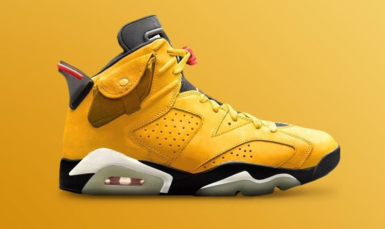 Cactus Jack Air Jordan 6 Yellow
