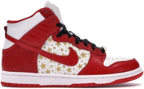 SUPREME RED STARS SNEAKERS
