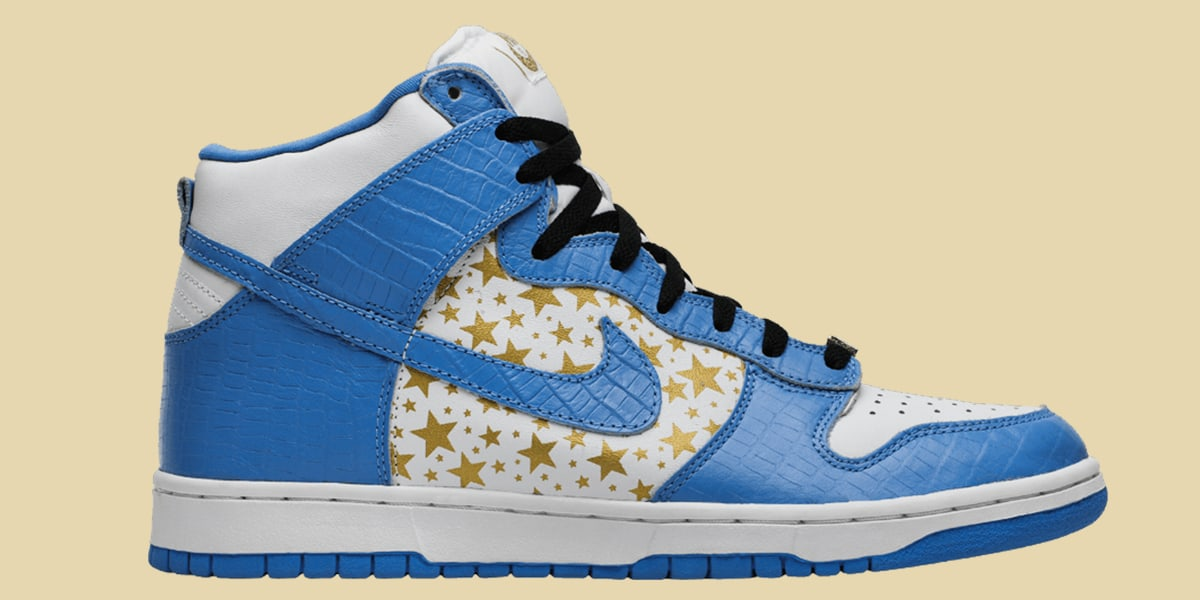 Nike Dunks High Pro SB Supreme Blue Stars 2003 - AIO Bot