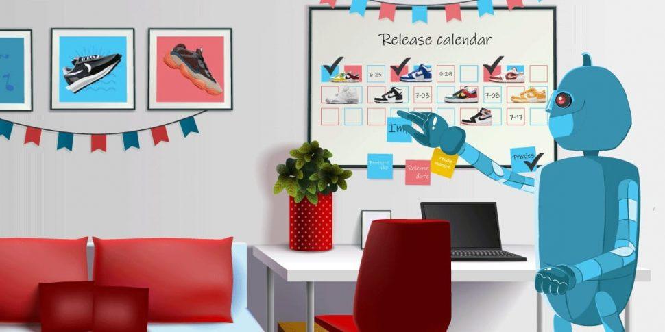 Sneaker Release Calendar - How Sneaker Releases Work - AIO Bot