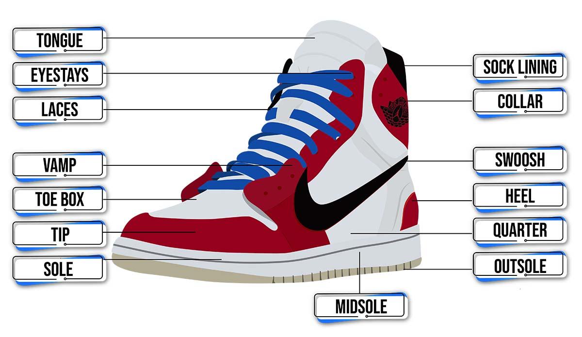 Sneaker Anatomy - Air Jordan 1 Trophy Room - AIO Bot