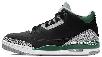 Air_Jordan 3 Pine Green